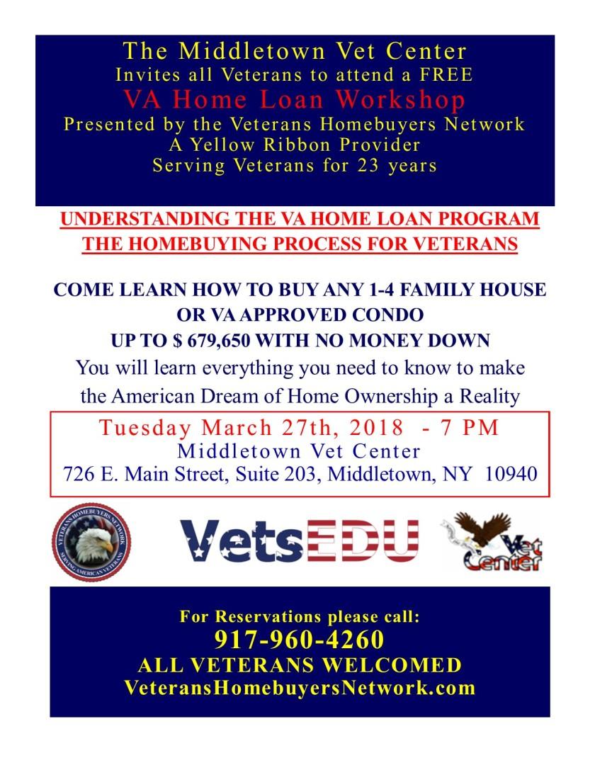 March 27th, 2018 VA Workshop - MIddletown Vets Center